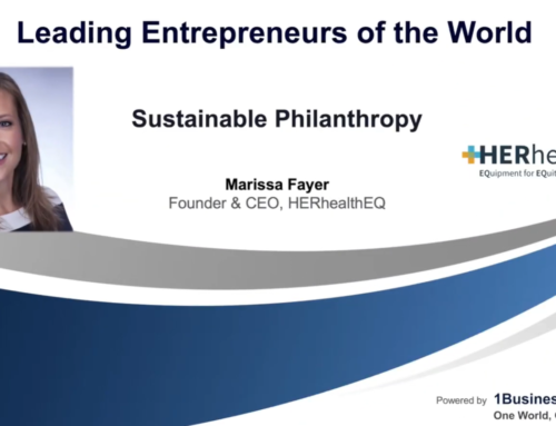 Sustainable Philanthropy keynote by Leading Entrepreneurs of the World